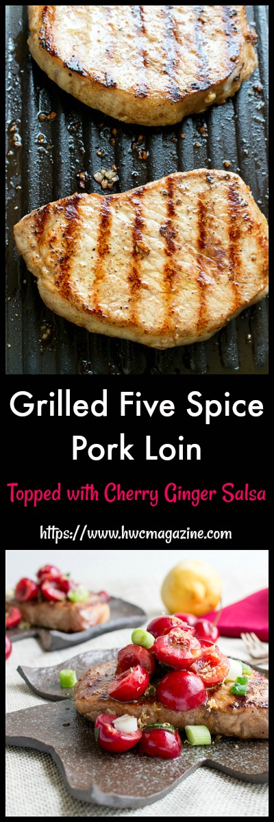 Grilled Five Spiced Pork Loin Chops