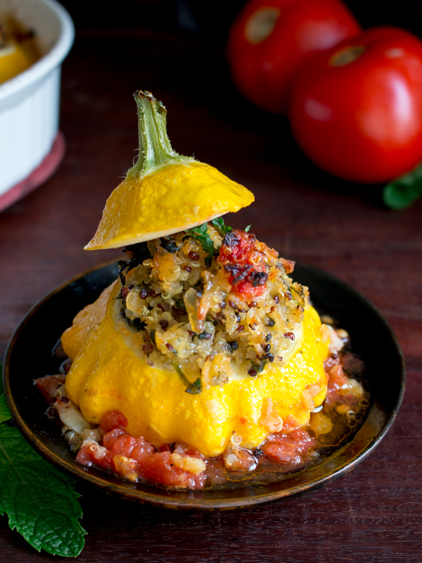Italian Stuffed Patty Pan Squash / https://www.hwcmagazine.com