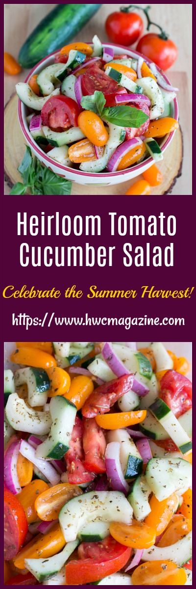 Heirloom Tomato Cucumber Salad / https://www.hwcmagazine.com