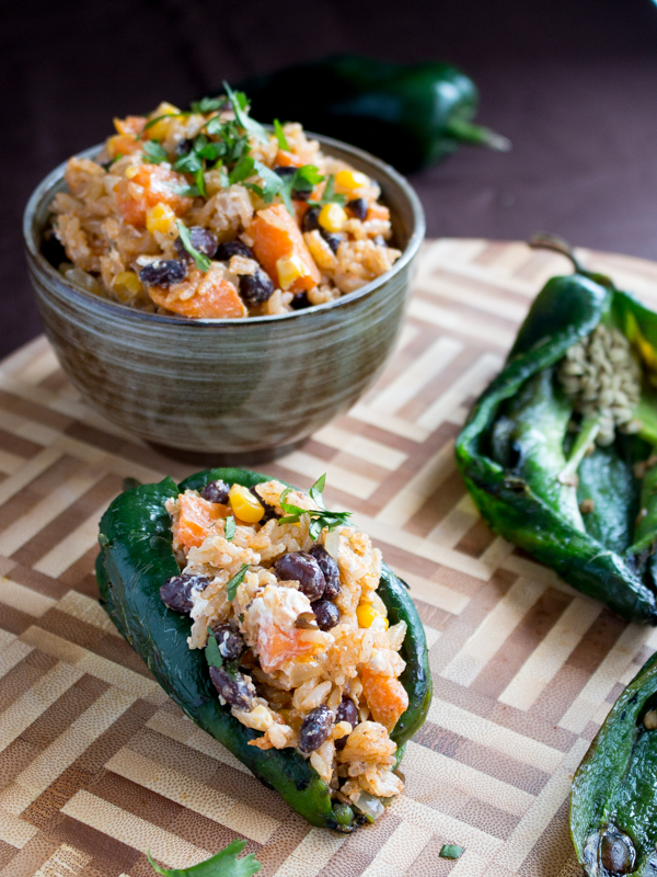 Cheesy Roasted Poblano Peppers