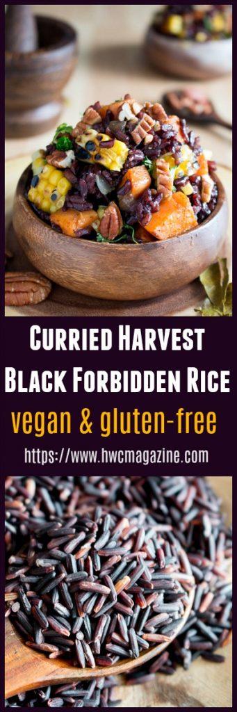 Curried Harvest Black Forbidden Rice / https://www.hwcmagazine.com
