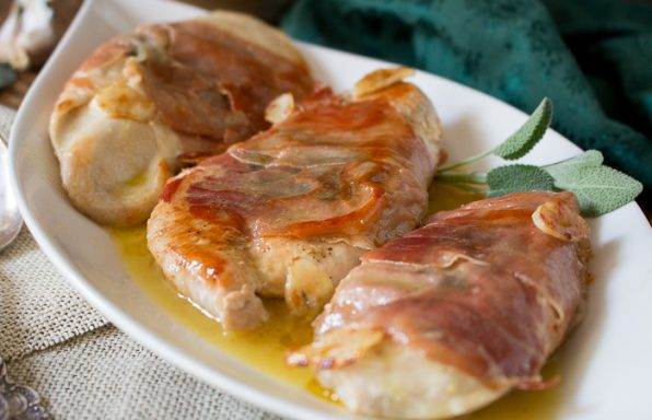 Garlic Chicken Saltimbocca / https://www.hwcmagazine.com