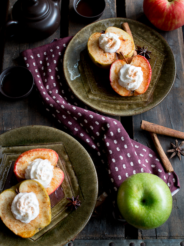 Easy Peasy Baked Apples 2 dishes for sharing with tea