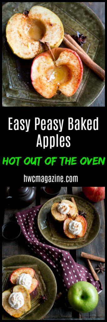 Easy Peasy Baked Apples / https://www.hwcmagazine.com