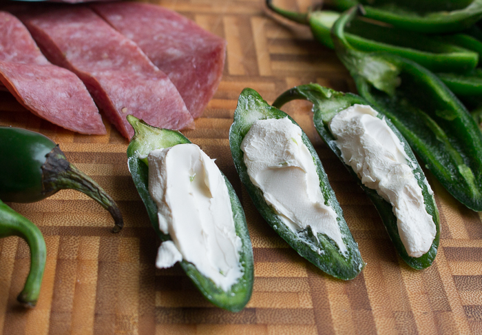 raw jalapeno stuffed with cream cheese