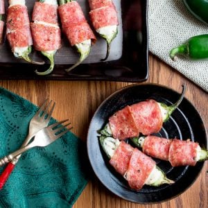 Baked Cheesy Salami Wrapped Jalapeños / https://www.hwcmagazine.com