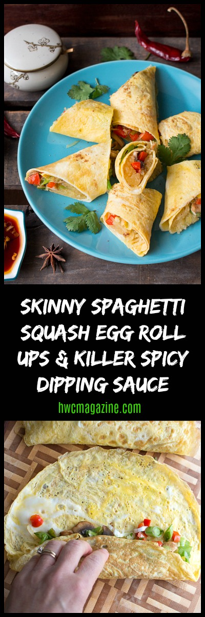 Skinny Spaghetti Squash Egg Roll Ups / https://www.hwcmagazine.com