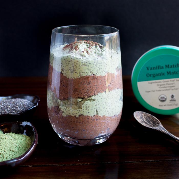 Matcha Chocolate Chia Parfait/ https://www.hwcmagazine.com