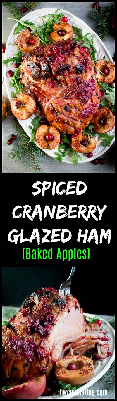 Spiced Cranberry Glazed Ham/ https://www.hwcmagazine.com