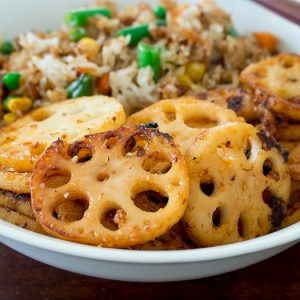 Garlic Chili Stir Fried Lotus Root / https://www.hwcmagazine.com