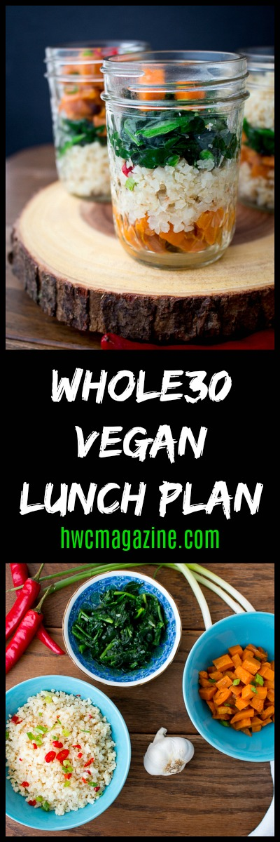 Whole30 Vegan Lunch Plan / https://www.hwcmagazine.com
