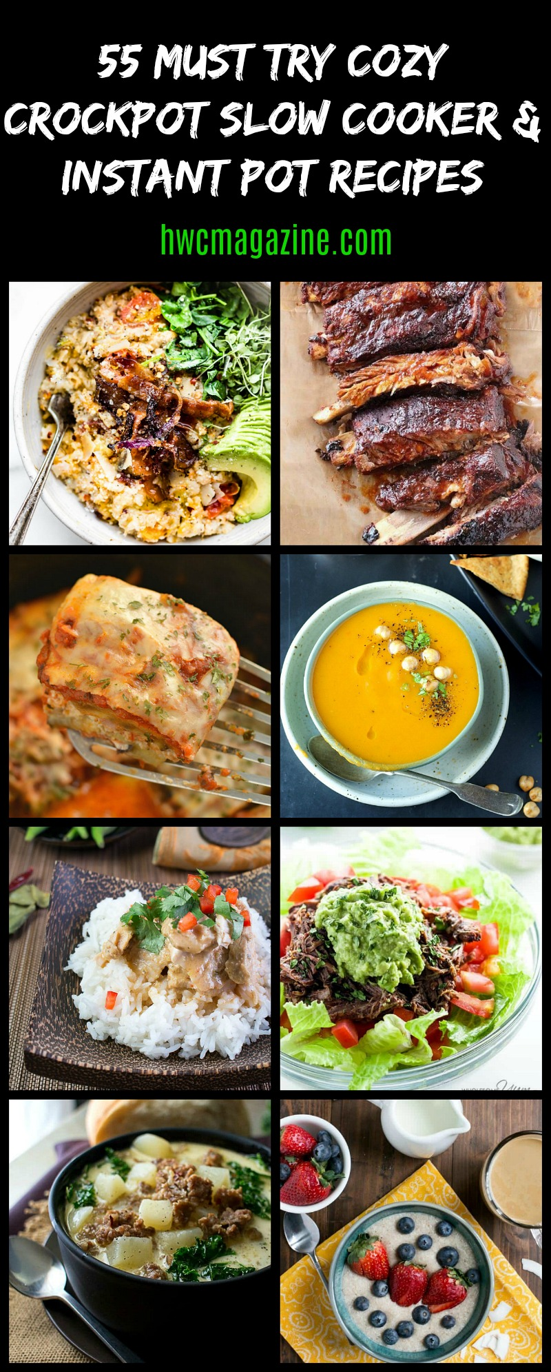 55 MUST TRY Cozy Crockpot Slow Cooker & Instant Pot Recipes