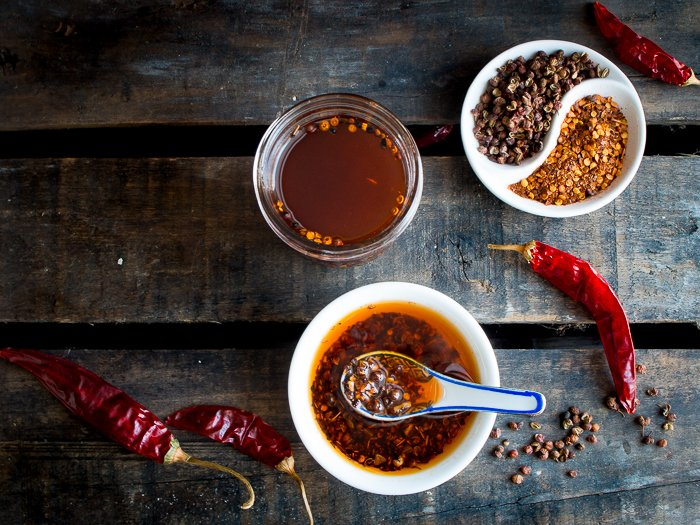 Homemade Sichuan Garlic Chili Oil/ https://www.hwcmagazine.com