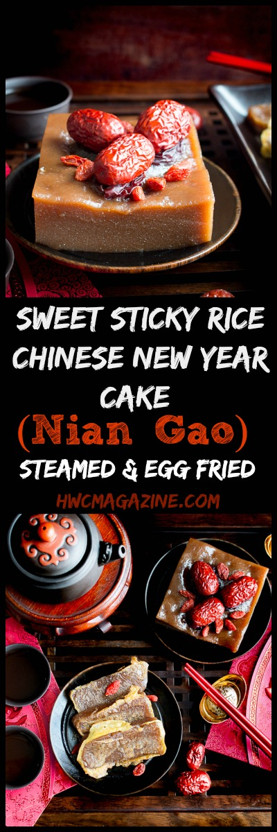 Sweet Sticky Rice Chinese New Year Cake / https://www.hwcmagazine.com