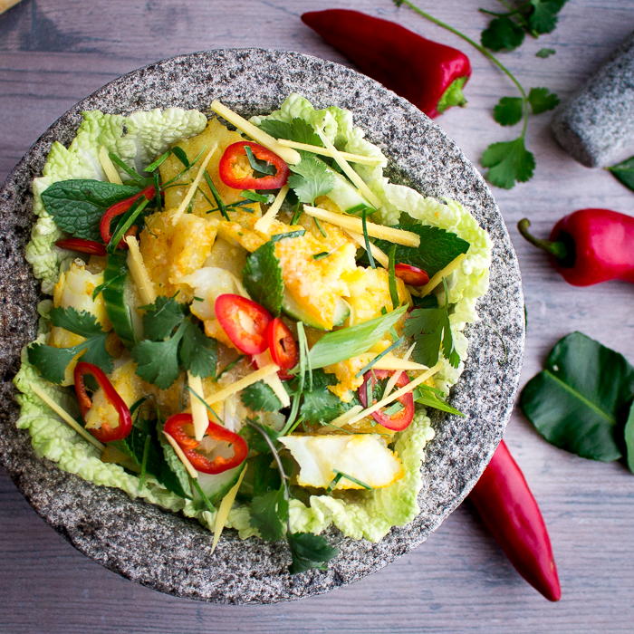 Authentic Thai Fish Salad / https://www.hwcmagazine.com