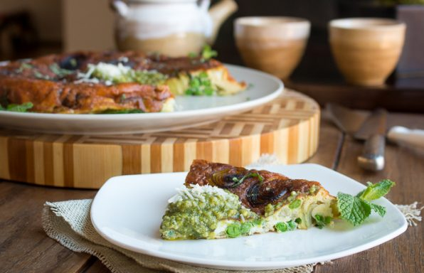 Stove Top Parmesan Leek Frittata / https://www.hwcmagazine.com