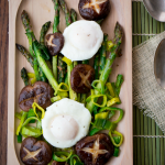 Sautéed Asparagus and Mushrooms with Poached Eggs/ https://www.hwcmagazine.com
