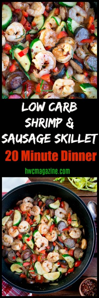 Low Carb Shrimp and Sausage Skillet/ https://www.hwcmagazine.com