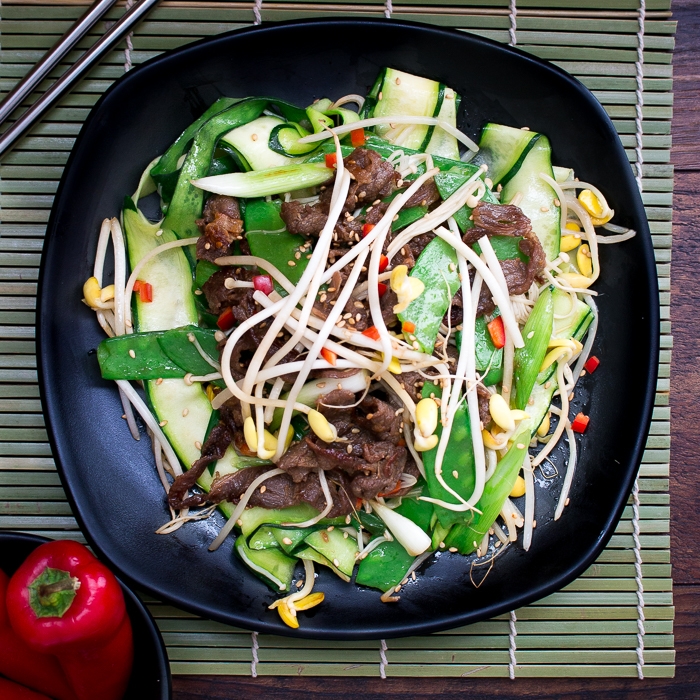 Low Carb Spicy Bulgogi Beef Stir Fry / https://www.hwcmagazine.com