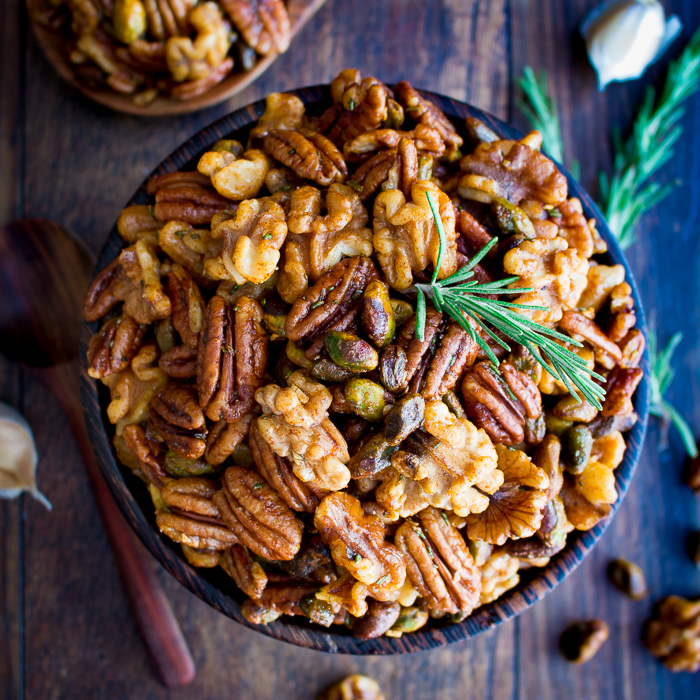 Stove Top Rosemary Party Nuts / https://www.hwcmagazine.com