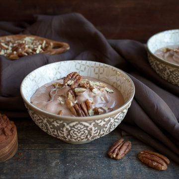 Chocolate Pecan Butter Banana Ice Cream / https://www.hwcmagazine.com