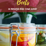 Gingered Red Onion Pickled Golden Beets are a 10 minute bet you can eat just one quick pickle recipe. #pickles #beets #onions #quickpickles / https://www.hwcmagazine.com