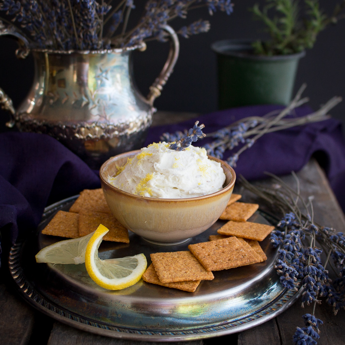 Lemon Lavender Goat Cheese Spread / https://www.hwcmagazine.com
