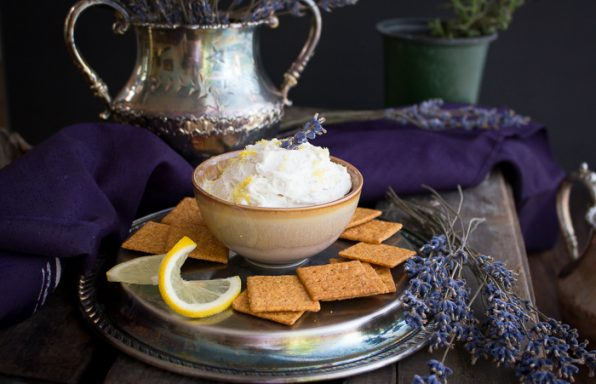 Lemon Lavender Goat Cheese Spread / https://www.hwcmagazine.com