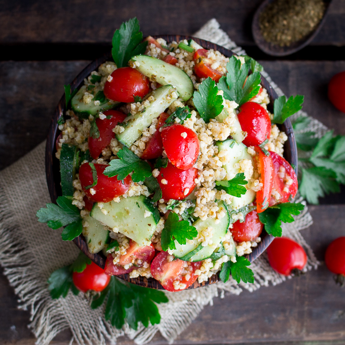 Easy Summer Millet Salad / https://www.hwcmagazine.com