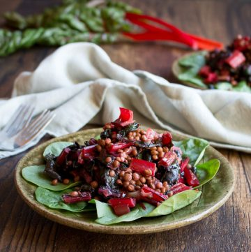 Best Vegan Warm Swiss Chard Lentil Salad / https://www.hwcmagazine.com