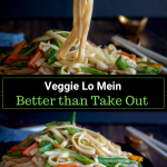 Better than Take Out Vegetable Lo Mein is one complete dish of comfort food that can be on your table in 20 minutes packed with vegetables and a delicious spicy soy sauce. Perfect way to enjoy an easy Chinese New Year. #lowmein #noodles #noodleswithoutborders #chinese #asianrecipe #asianfood #healthyrecipe #vegetarian / https://www.hwcmagazine.com