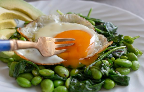 Sautéed Greens Breakfast Salad / https://www.hwcmagazine.com