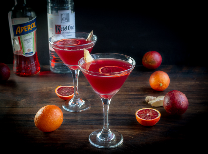 Blood Orange Ginger Spritz / https://www.hwcmagazine.com