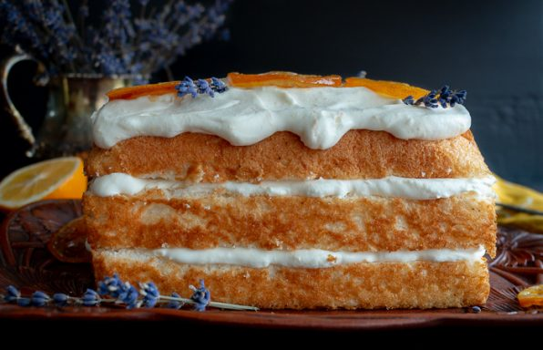 Icebox Lavender Lemon Angel Food Cake / https://www.hwcmagazine.com