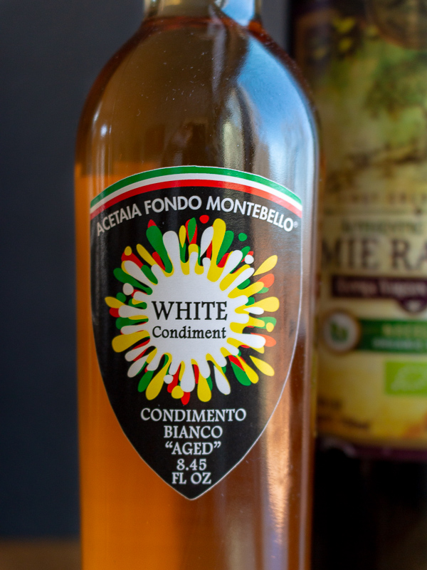 White Balsamic vinegar from Acetaia Fondo Montebello