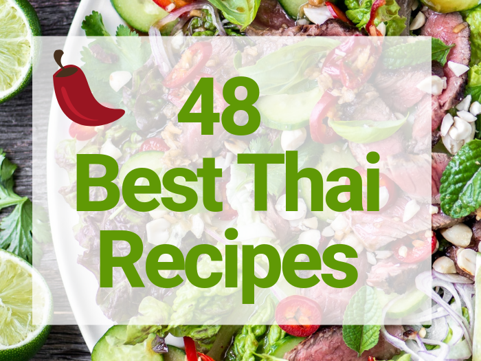 48 Best Thai Recipes sign banner
