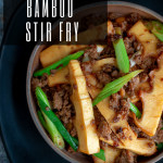 Spicy Pork and Bamboo Stir Fry / https://www.hwcmagazine.com