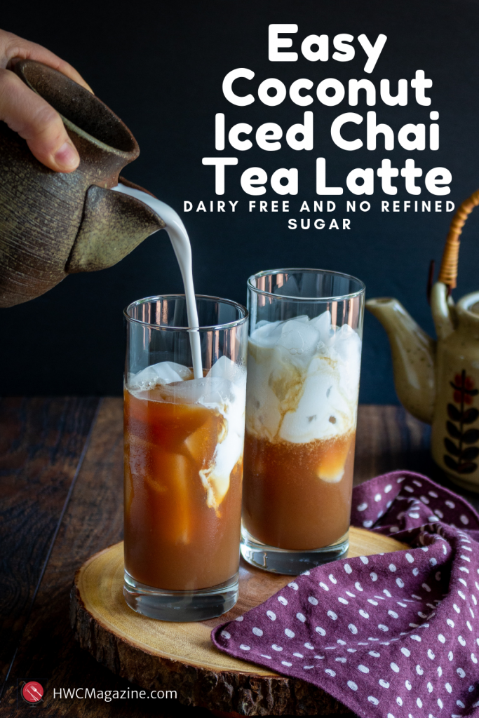 Easy Coconut Iced Chai Tea Latte / https://www.hwcmagazine.com
