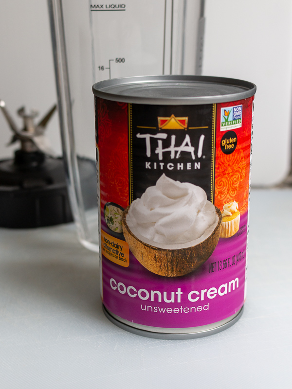 Can of unopened coconut cream Thai Kitchen brand