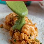 Shrimp Burritos with Creamy Poblano Sauce / https://www.hwcmagazine.com
