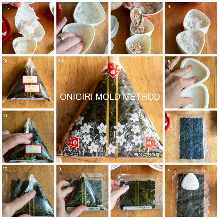 13 Step by Step Onigiri Mold Method