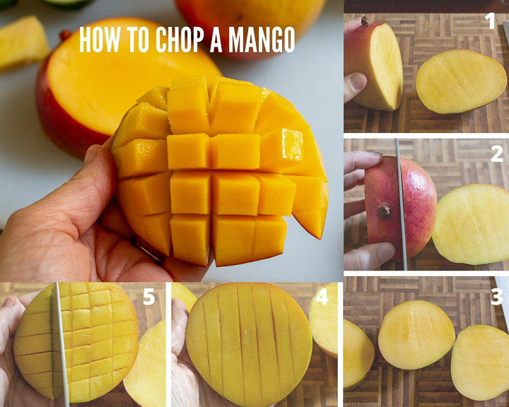 How to chop a mango step by step.