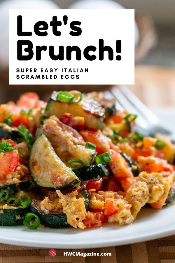 Let's Brunch with an Italian Veggie scramble.