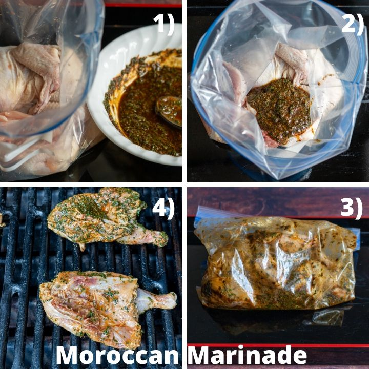 Step by Step how to marinade and prep Cornish hens.