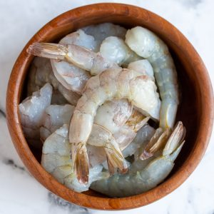 Prepped shrimp
